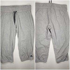 Adidas Crop Sweatpants Joggers Sz M Gray